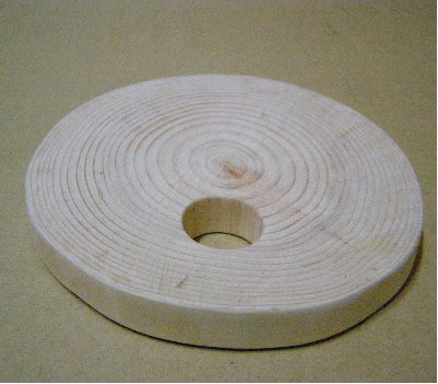 3fish 편백나무 주방용품 : 1. 냄비받침 (중) : 직경 15~16 Cm