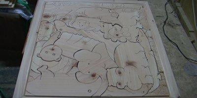 편백나무 장식액자 : 가로x세로x높이 = 80x70x3 cm