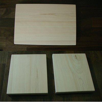 3fish 편백나무 통도마(대) : 가로x세로x두께 = 50x30x3.8 cm