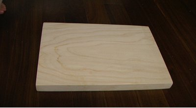 3fish 편백나무 이유식 도마(일반사각) : 가로x세로x두께 = 20x16x2.2 cm